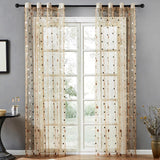 Sheer Curtains Dots Embroidered Curtain for Living Room Bedroom - AsSeenOnTheShow