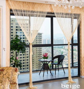Shiny Tassel Silver Line String Living Room Fashion Curtain - AsSeenOnTheShow