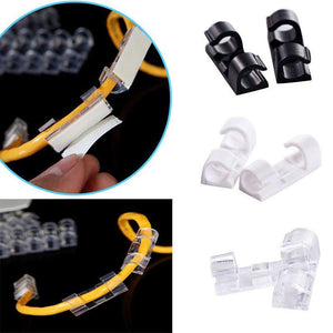 20Pcs Multifunctional Cable Organizer Clips - AsSeenOnTheShow