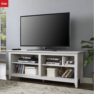 "White Wash Sunbury TV Stand for TVs up to 60"" - AsSeenOnTheShow"