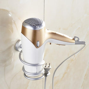 Multi-function Bathroom Hair Dryer Holder Wall Mounted - AsSeenOnTheShow