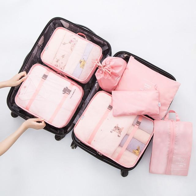 6 PC Portable Travel Luggage Packing Cubes - AsSeenOnTheShow