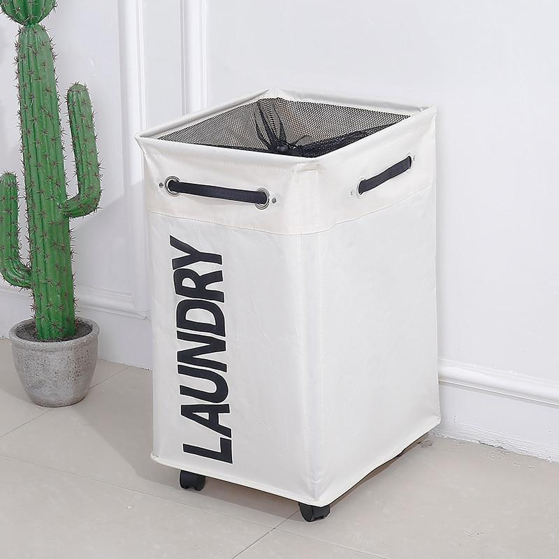 Laundry Foldable Storage Basket with Wheel - AsSeenOnTheShow