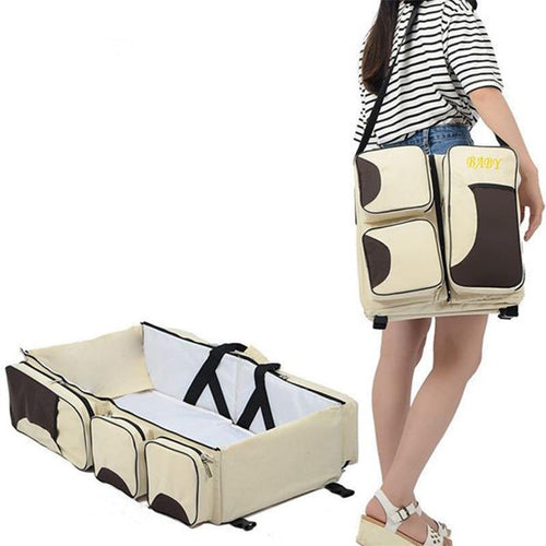 3 in 1 Multi Purpose Diaper Baby Bag Bassinet - AsSeenOnTheShow