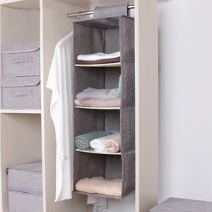 Cotton Closet Wardrobe Cabinet Organizer  | Hanging Pocket Clothes Storage - AsSeenOnTheShow