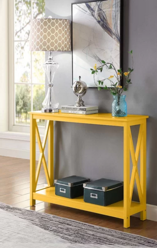 Yellow Stoneford Console Table - AsSeenOnTheShow