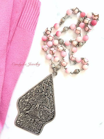 Pink Gunungan Necklace