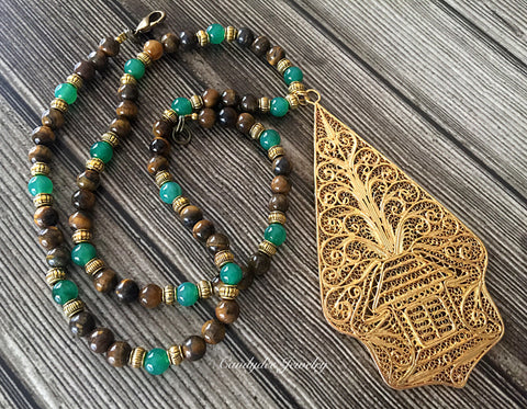 Gunungan Green Necklace