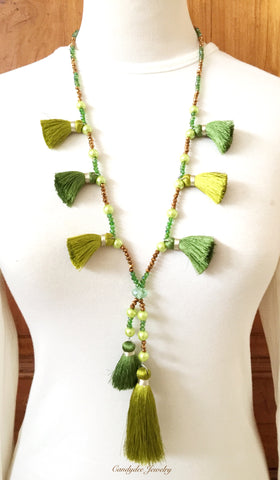 Green matcha necklace