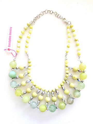 spring leaves necklace