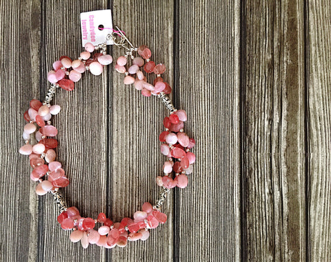 Rose petal necklace