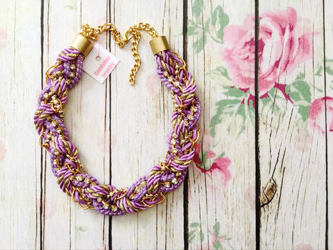 sweet purple necklace