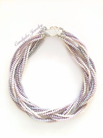 Lavender Powder Necklace