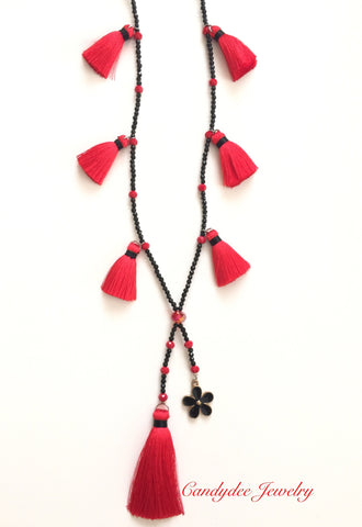Pony Red Necklace