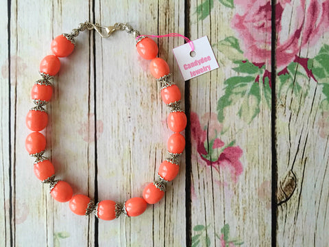 peach go go! necklace