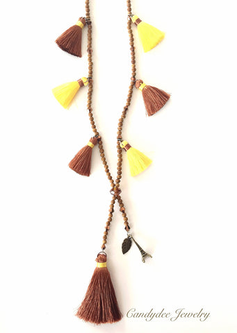 Pony Brown Necklace