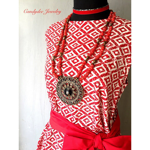 Red Chips Necklace