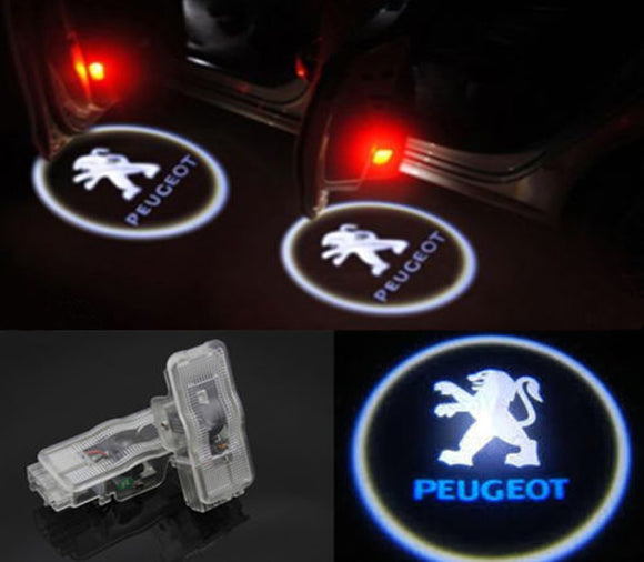 peugeot logo welcome car door light projector hologram laser plug&play oem