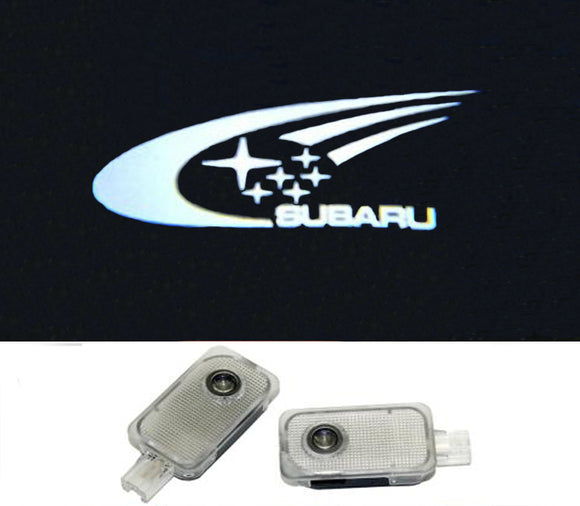subaru wrc logo forester outback legacy impreza tribeca xv door light projector led plug&play