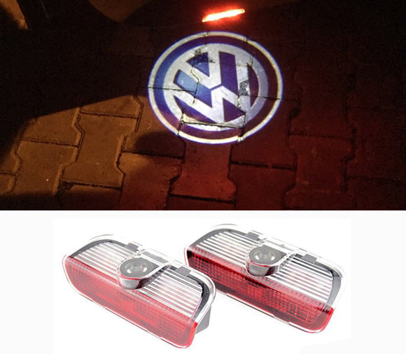 Volkswagen VW logo welcome door light projector led laser plug&play