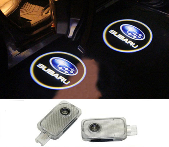 subaru big logo forester outback legacy impreza tribeca xv door light projector led