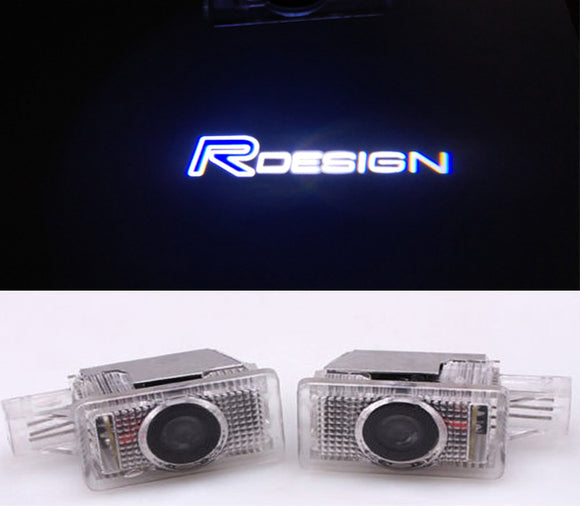 volvo r design logo welcome door light projector led laser plug and play