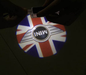 Mini cooper Paceman Roadster Counryman Clubman logo car door light projector hologram laser plug and play