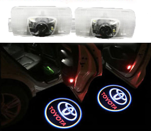 Toyota logo welcome door light projector plug and play oem easy install