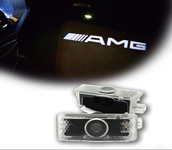Mercedes-Benz amg logo car door light projector hologram laser plug&play CLA CLS E Coupe Cabriolet