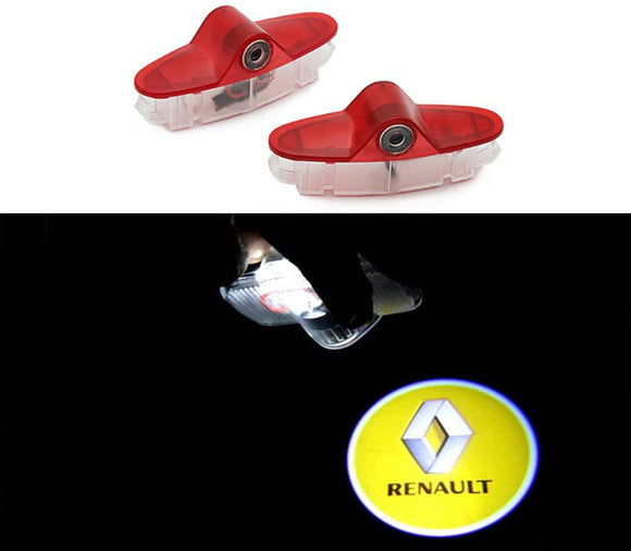 Renault logo welcome car door light projector hologram laser plug and play megane laguna latitude talisman
