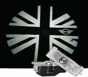 Mini cooper Paceman Roadster Counryman Clubman logo car door light projector hologram laser plug and play britan flag