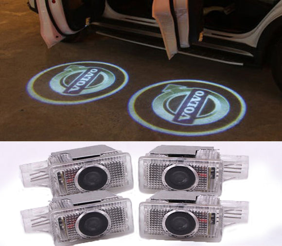 volvo s60 s80 xc60 xc90 v40 v60 welcome door light projector plug&play 4pcs