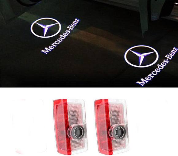Mercedes-Benz door light projector hologram laser plug and play A B C E M GL GLA GLE GLC GLS 2pcs