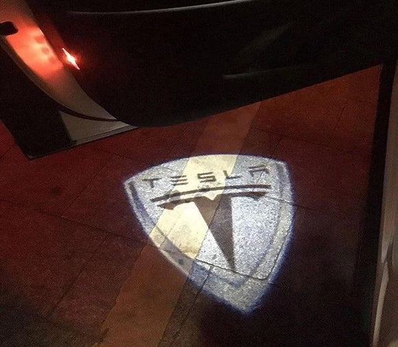 tesla logo door light projector led hologram plug&play oem