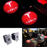 tesla model 3 X S logo door light projector led hologram plug&play