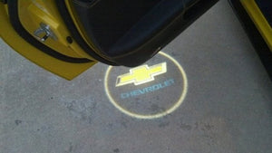chevrolet logo courtesy door led light projector welcome door plug&play
