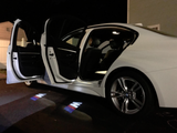 bmw m performance logo courtesy door led light projector welcome door