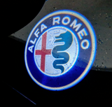alfa romeo logo door led light projector giulia stelvio mito 159 giulietta  brera spider plug and play