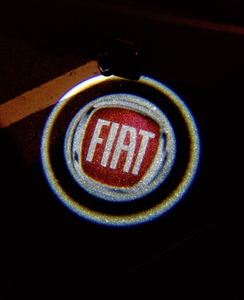 fiat logo door light projector laser led plug&play oem