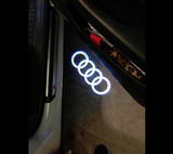 audi logo door led light projector welcome door