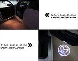 mazda 6 door light projector hologram before and after plug&play