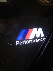 bmw m preformance logo door light projector laser led plug and play 3 5 6 7 x gt z series