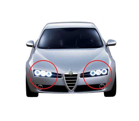 alfa romeo 159 Brera Spider CCFL Angel Eyes 6 Rings Halo Ring Excellent Ultra bright illumination