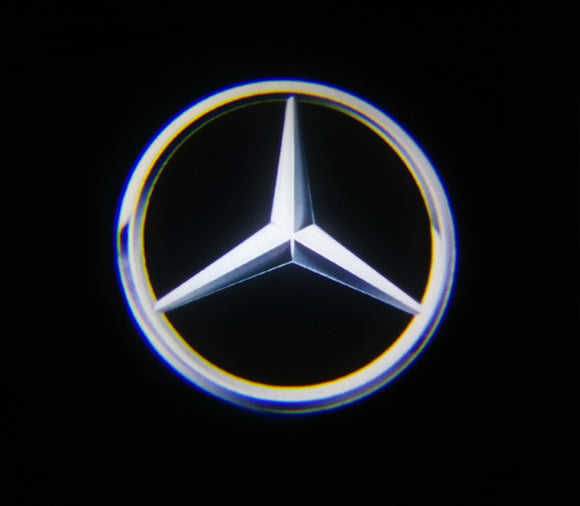 mercedes benz logo door light projector laser led plug and play 1 year warranty