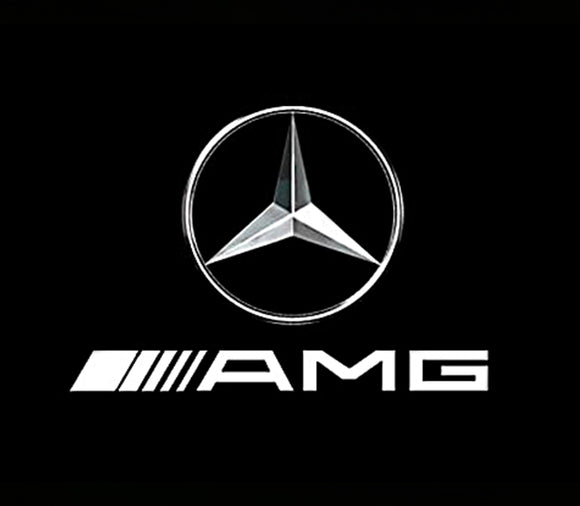 mercedes amg logo door light projector laser led plug&play 1 year warranty
