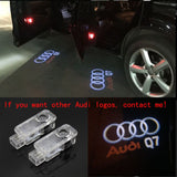 audi q7 logo door light projector laser led plug&play 1 year warranty