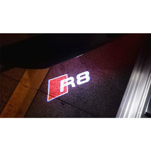 audi r8 courtesy door light projector laser led plug&play 1 year warranty