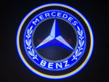 Mercedes Benz logo W166 W213 W176 W205 GLA GLC door light projector hologram laser plug&play 2pcs