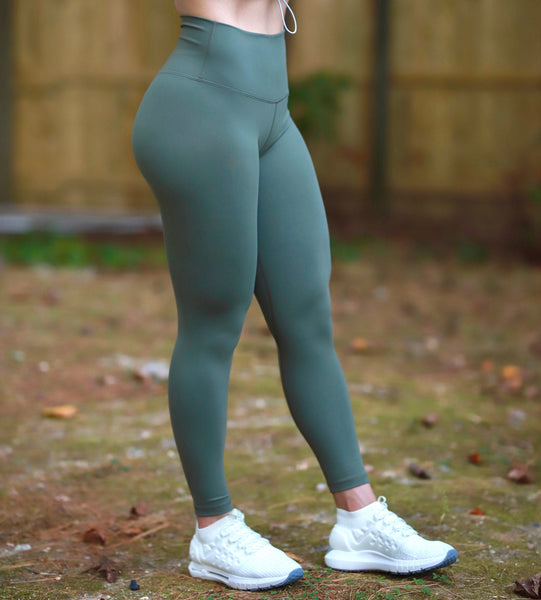 Green Olive Leggings
