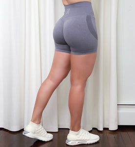 GREY SEAMLESS SHORTS